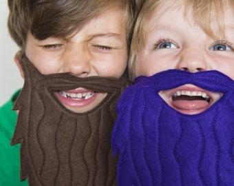 Kid's felt beard mask