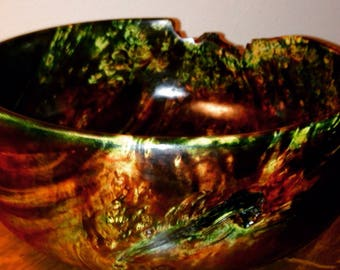 Hand Turned Wooden Christmas Bowl