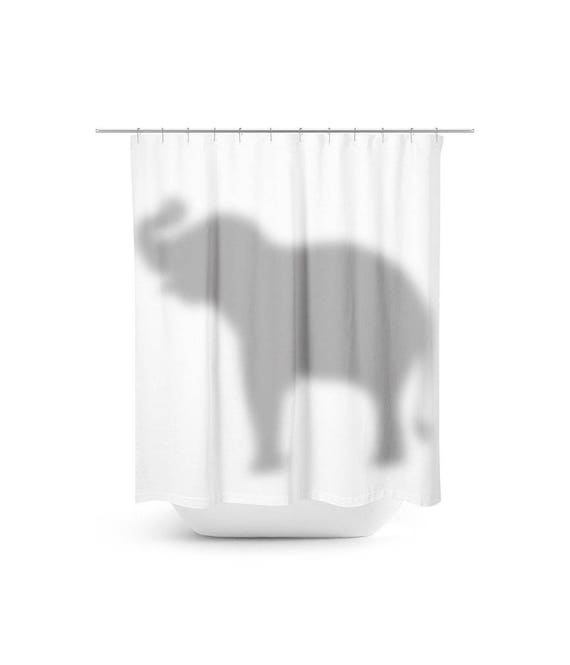 Elephant In The Room Shower Curtain Behind