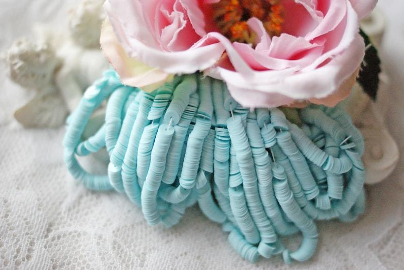 Porcelane Sky Blue Sequins-Pailettes-4 mm sequins-Round sequins-Flat Sequins