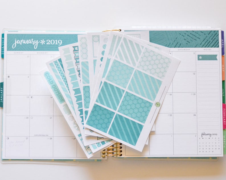 Vertical January Weekly Monthly kit fits EC Hourly and Vertical month week
