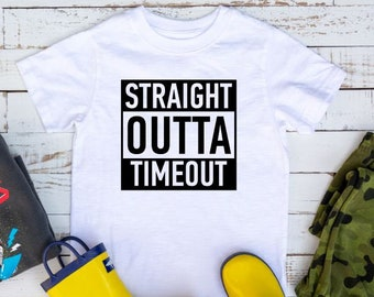 b5fd272ab Straight Outta Timeout Shirt | Funny Kids Shirt | Timeout Shirt | Cute Toddler  Shirt | Boys or Girls Shirt | Toddler Shirt