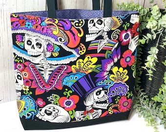 Day of the dead Fandango Tote bag Red