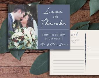 Hochzeit, Dankeschön-Karte, Postkarte, ich danke Ihnen, digitale, bedruckbar, Bild