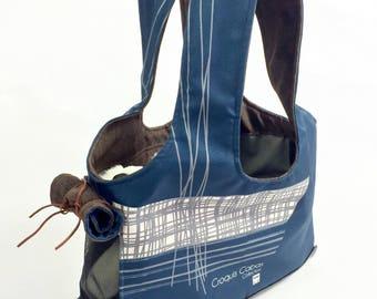 Carry bag for dog/travel bag for dog/bag sturdy and washable/Blue Dog