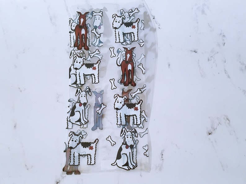 10 Small Dog Themed Printed Clear Cello Treat Bags.