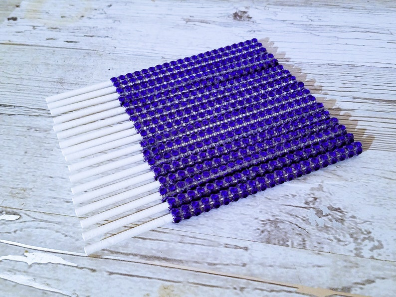 25 Navy Blue Bling Diamond Wrap Cake Pop Sticks Handcrafted In 2-3 Business Days Ocean Themed Bling Cake Pop Sticks