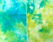 Wool Fabric Dyed Turquoise and Green