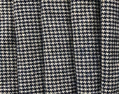 Navy Blue Houndstooth Wool Fabric