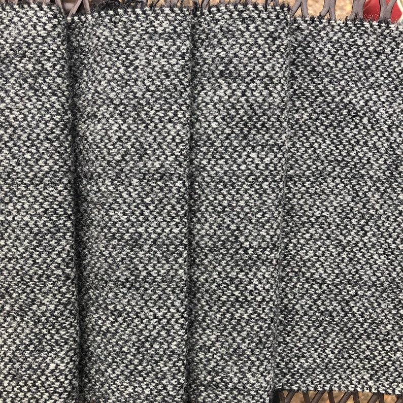 Black /& White Barley Wool Fabric