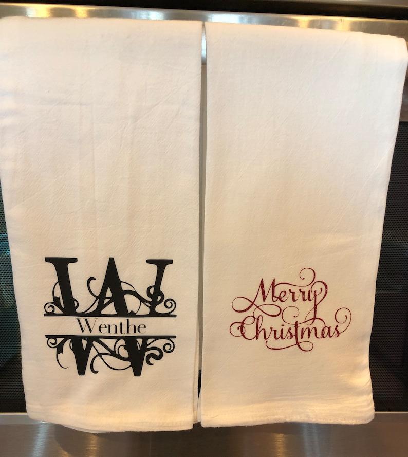 Personalized Kitchen flour sack towels