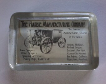 Antique Abrams Paperweight Harde Manufacturing Company Advertising Sprayers