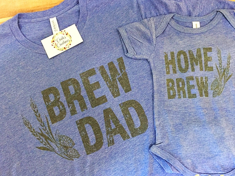 355b6d72 Brew Dad Home Brew Shirt set//father and son//matching beer | Etsy