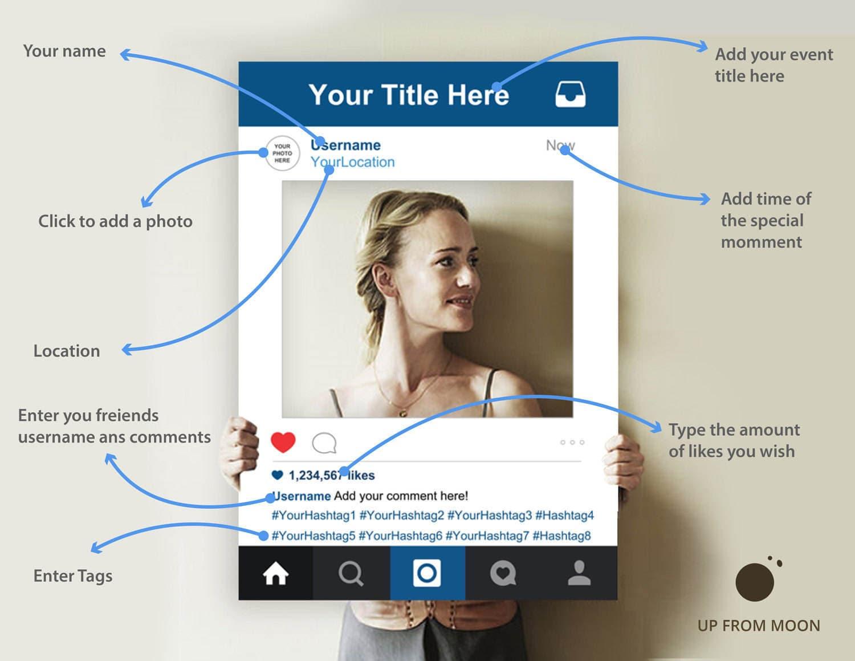 Instagram Frame Instagram Photo Booth Instagram Photo Booth | Etsy