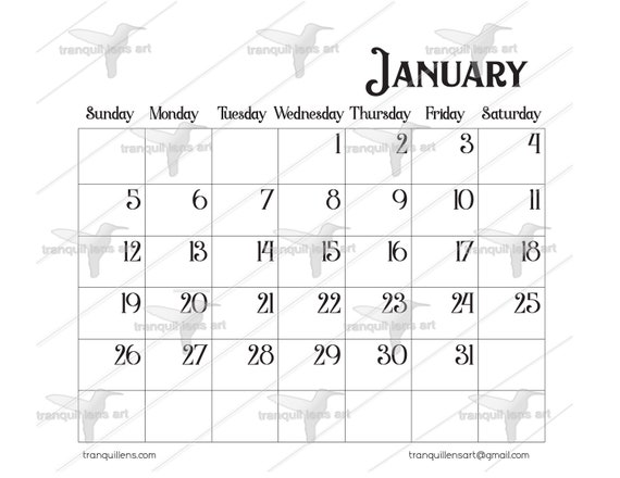 Calendar Template For Affinity Publisher Graphics Etsy