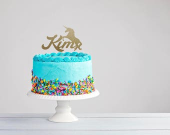 Unicorn Cake Topper Party Decor Personalized Birthday I Believe In Unicorns