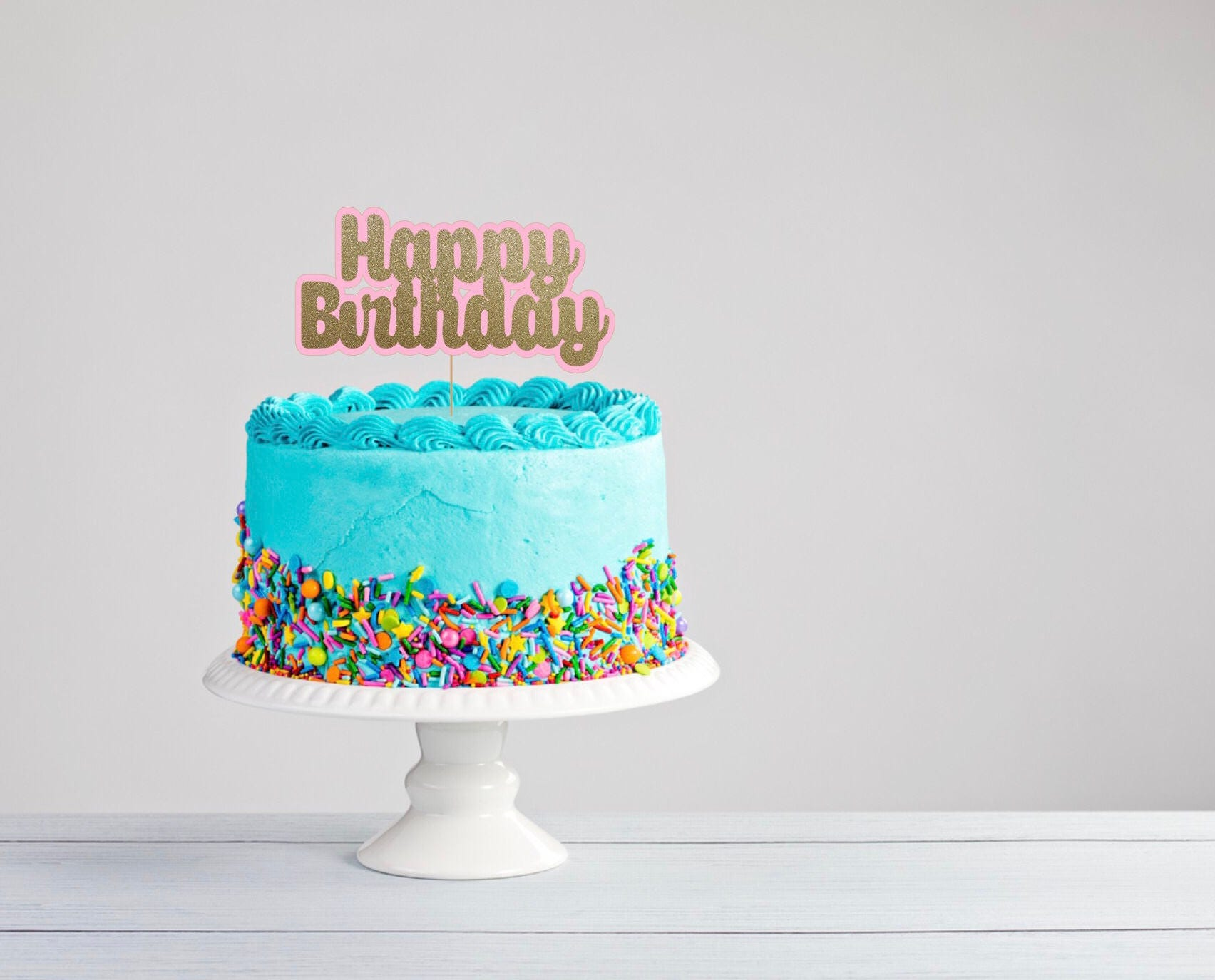 Awe Inspiring Happy Birthday Cake Topper Funny Cake Topper Congrats Cake Etsy Personalised Birthday Cards Paralily Jamesorg