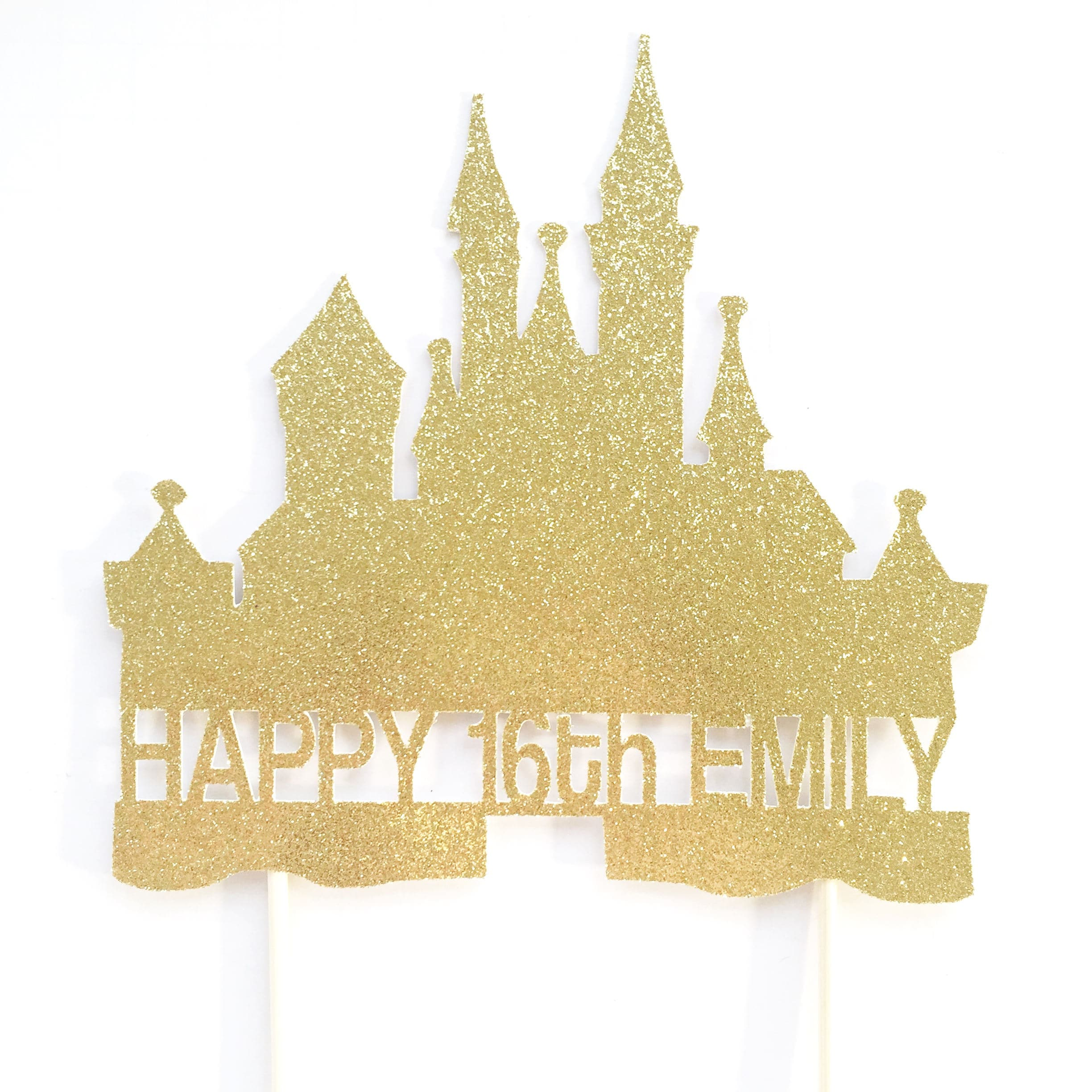 Astonishing Castle Cake Topper Princess Birthday Party Princess Cake Etsy Funny Birthday Cards Online Inifofree Goldxyz