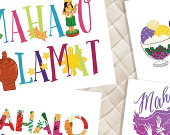 Custom Mahalo-Salamat Greeting Cards