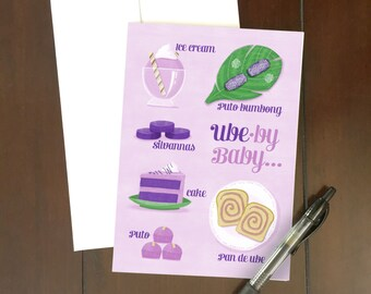 Ube-by Baby Greeting Card