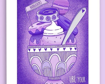 Ube Your Cravings Print