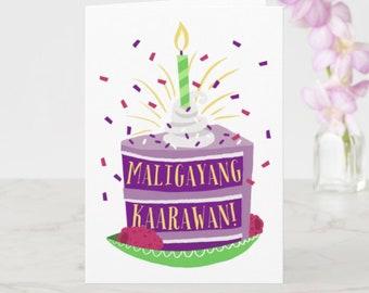 BIRTHDAY   Maligayang Kaarawan Greeting Card
