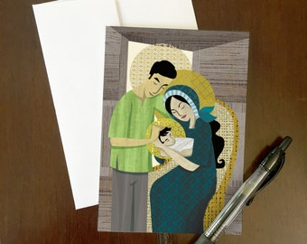 Pilipino Holy Family Greeting Card