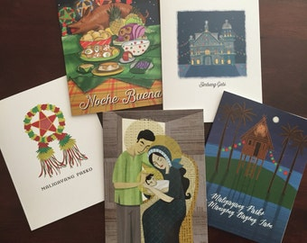 *Holiday Deal* Set of 10 Filipino Greeting Cards