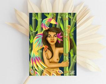 Maganda At Malakas | Filipina | Filipino Art | Illustration | Philippine Art | Filipino Feminism | Ibong Adarna