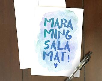 Maraming Salamat Greeting Card