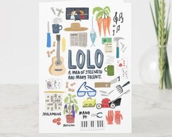 BIRTHDAY   Lolo Maligayang Kaarawan Greeting Card