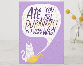 BIRTHDAY | Ate Purrrfect Greeting Card