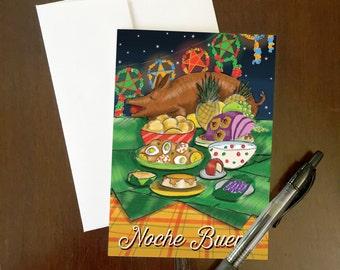Noche Buena Greeting Card