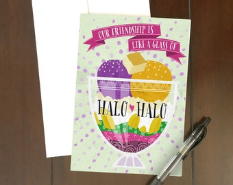Halo-Halo Besties Greeting Card
