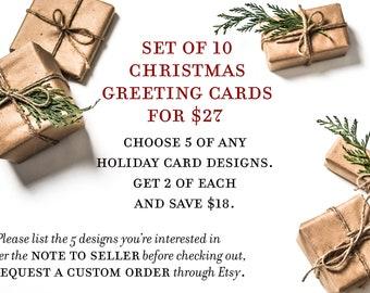 Set of 10 Tagalog Christmas Greeting Cards