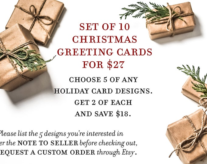 Featured listing image: Set of 10 Tagalog Christmas Greeting Cards