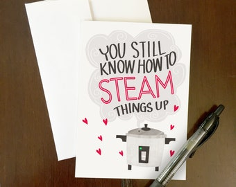 ON SALE! Steam It Up Greeting Card
