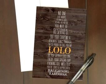 BIRTHDAY | Lolo Maligayang Kaarawan Greeting Card