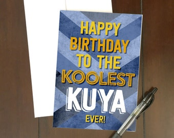BIRTHDAY | Koolest Kuya Greeting Card