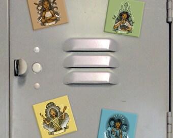 "Babaylan Archetype 2"" Square Magnets"