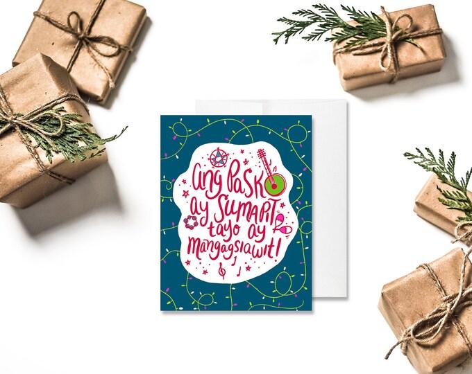 Featured listing image: CHRISTMAS | Ang Pasko Ay Sumapit Greeting Card