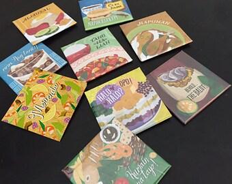 Filipino Food Art Refrigerator Magnets