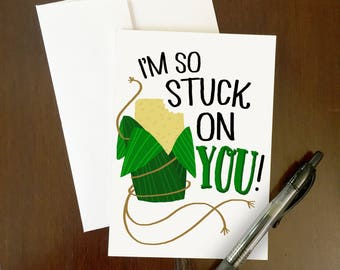 Stuck on You Greeting Card