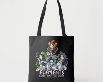 All Elements in One Design on Medium Tote Bag
