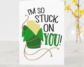 Stuck on You Greeting Card
