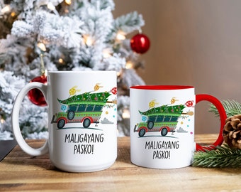 Maligayang Pasko Jeepney Mug