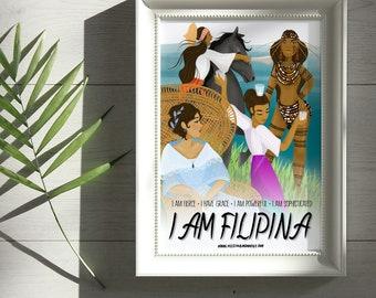 All Four Characters I AM FILIPINA Print