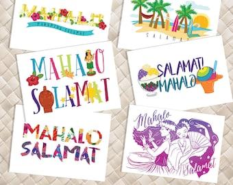 Custom Mahalo-Salamat Greeting Cards