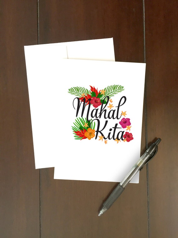 Mahal kita card i love you in tagalog tropical flowers etsy image 0 m4hsunfo