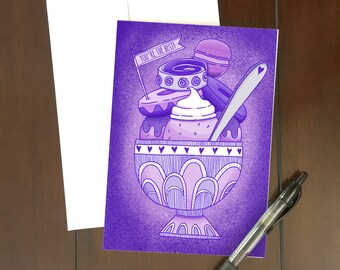 Thanks Ube-llion! | Thank You Greeting Card | Ube Dessert | Filipino-themed art | Philippines